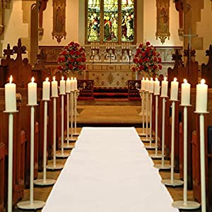 Teppichläufer Hochzeitsteppich Breite 1 Meter WEISS