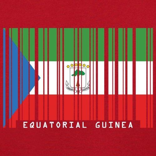 Equatorial Guinea Barcode Flagge / Äquatorialguinea Barcode Flagge - Herren T-Shirt - 13 Farben Rot