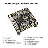 Matek F7 Flight Controller OSD ( Intergreted Bateflight OSD , BEC 5V , MicroSD card slot , VCP 5xUARTs , 7 PWM / DSHOT Outputs ) for FPV Racing RC Drone Quadcopter by LITEBEE