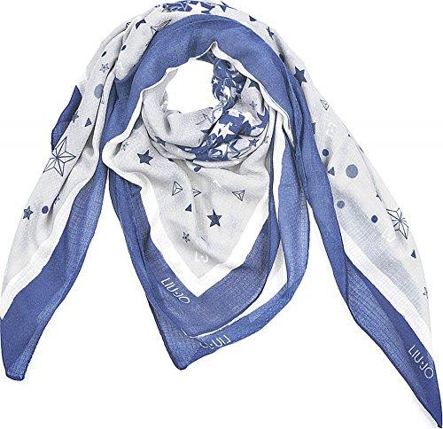 Liu Jo, panni, Donna, sciarpe, Copricollo, Blu scuro, 140x 140cm