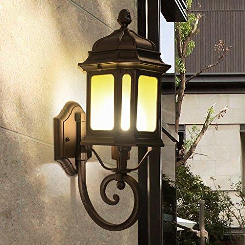 AMOS Applique murale extérieure européenne américaine rétro balcon lampe murale imperméable à l'eau de couloir de patio extérieur