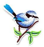 familyfirst tradings blau Vogel Eisen auf patch- Animal Zoo