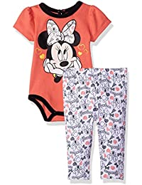 Disney Baby Girls Minnie Mouse 2-Piece Bodysuit and Pant Set