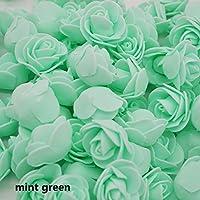 ZHANGYUSEN 50 Pcs/viel 3,5Cm Mini Foam Rose Blume Kopf Künstliche Blumen Für
