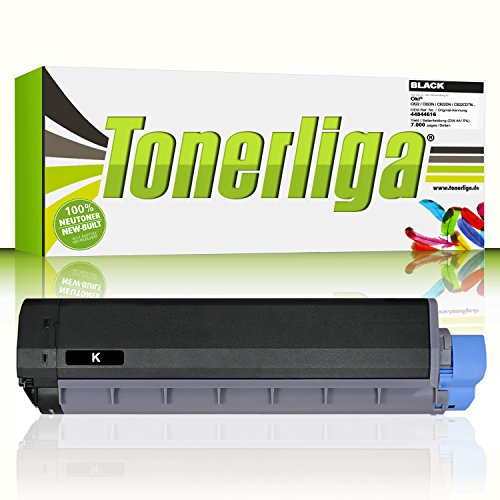 44844616 Toner f. Oki C822 C822n C822dn C822cdtn | Schwarz - 7.000 Seiten | Kompatibel | Ideal für Ihre gestochen scharfen Ausdrucke