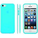 SOOPER Sky Blue Matte TPU Dual Tone Bumper Case Cover For iPhone 5c (Sky Blue Matte Case)
