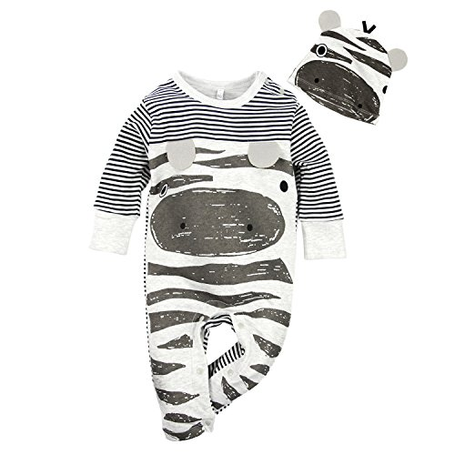 BIG ELEPHANT Baby Boys' Long Sleeve Romper Pajama Clothes G82A