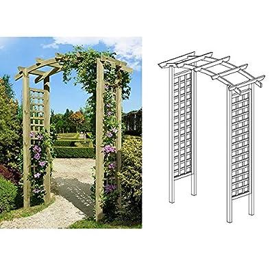 Eingangspergola 160x62x220 cm Pergola aus Holz mit Rankelementen von Gartenpirat® von J. Sedlmayr GmbH bei Du und dein Garten