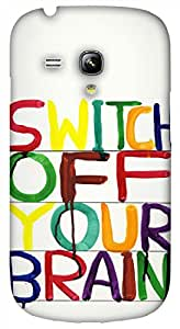 Timpax Light Weight Hard Back Case Cover Printed Design : Colourful words.Compatible with Samsung I8190 Galaxy S3 mini