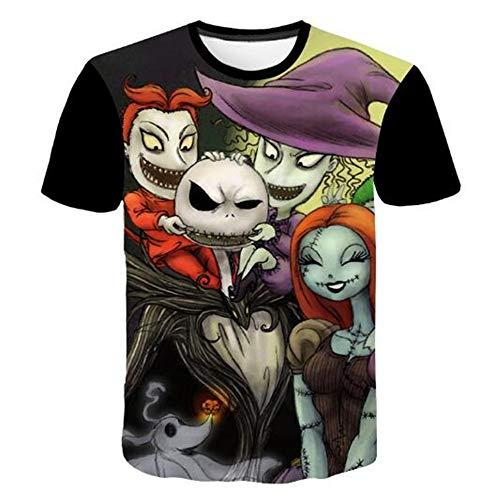 Sommert-shirtMännersommer-beiläufige Tarnungs-Druck-mit Kapuze ärmelloses T-Shirt Spitzenweste,Halloween Abstract Doll - EIN schwarzes XL