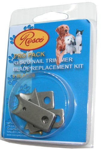 Resco Pro Pack, 6 Klinge Ersatz Nail Clipper Klingen, passt Guillotine Trimmer