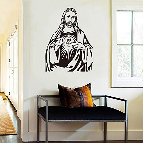 Jesus Christian Wandaufkleber Wohnzimmer Schlafzimmer Wandaufkleber Katholizismus Religion Kultur Wandbilder Tapete Weihnachten Wohnkultur, 51x67 cm