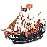 Ram Jeu de Simulation de Bateau de Pirate pour Enfants pour Enfants Cannon Treasure PlaySet avec Figurine de Jouet...