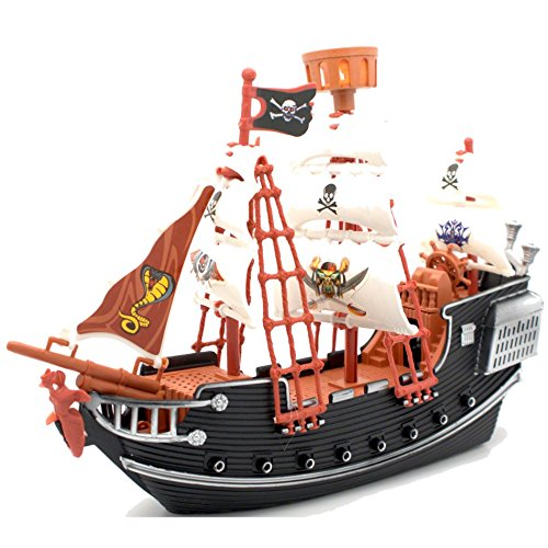 Ram Barco Pirata Infantil para niños Juego de imaginación Cannon Treasure PlaySet con Figuras Juguete
