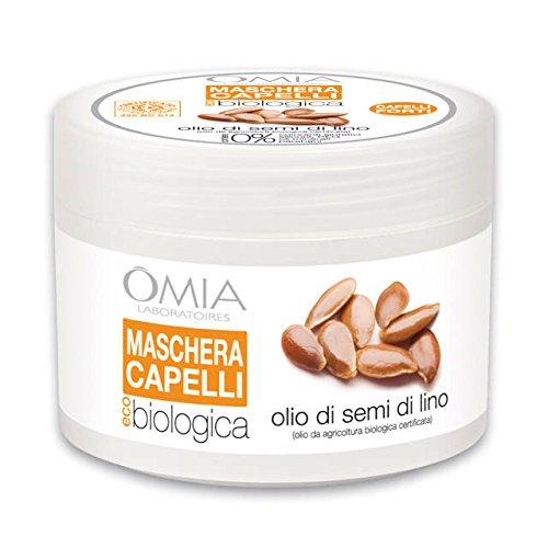 Maschera capelli Olio di semi di Lino Omia Laboratoires