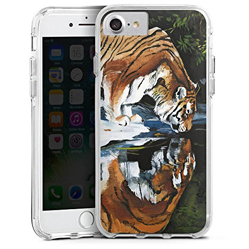 Apple iPhone 6s Bumper Hülle Bumper Case Glitzer Hülle Tiger Water Wasser Bumper Case transparent