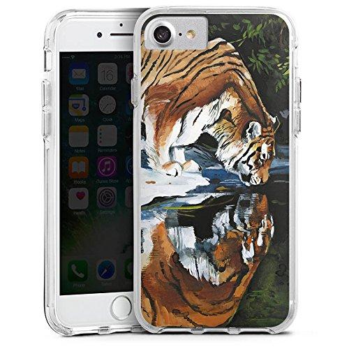Apple iPhone 6s Bumper Hülle Bumper Case Glitzer Hülle Tiger Water Wasser Bumper Case transparent