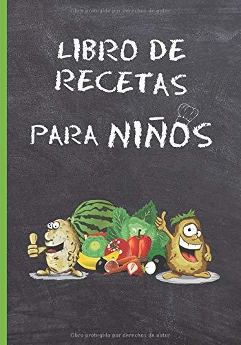 LIBRO DE RECETAS PARA NIÑOS: CUADERNO DE RECETAS EN BLANCO. LIBRO CON 100 FICHAS CON RECETAS SANAS DE COCINA PARA COMPLETAR. PLATOS FAMILIARES SALUDABLES. REGALO ORIGINAL PARA NIÑOS Y JÓVENES.