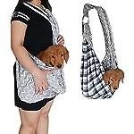 PENIVO Pet Dogs Sling Carrier Bag Grey Striped Soft Comfortable Hands-free Adjustable Shoulder Bag for Dog / Cat Bicycle… 18