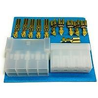 Kit Conector Faston 8 Vías | Conector Macho + Conector Hembra + Terminales