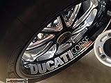 4x Ducati Corse Aufkleber freie Farbwahl, ohne Hintergrund, UV und Waschanlagenfest, hochwertig geplottet, Decal, Sticker,Tuning, `+ Bonus Testaufkleber