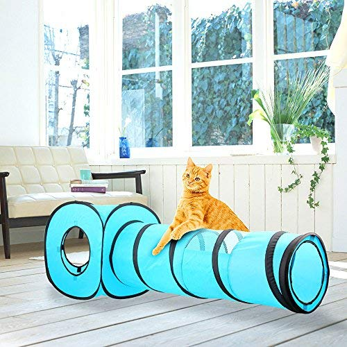 Pawise Cat Toys - Túnel Gatos Cubos Gato Plegables
