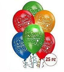 Idea Regalo - Palloncini Compleanno addobbi e decorazioni per feste party confezione 25pz