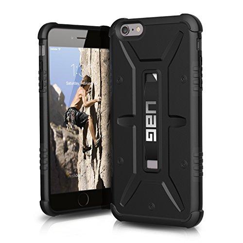 Urban Armor Gear Schutzhülle nach US-Militärstandard für Apple iPhone 6 Plus /6S Plus - schwarz (dunkel) [Verstärkte Ecken | Sturzfest | Antistatisch   Vergrößerte Tasten] - UAG-IPH6/6SPLS-BLK-VP (Urban Iphone Fall 5)