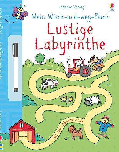 Mein Wisch- und Weg- Buch: Lustige Labyrinthe: mit abwischbarem Stift