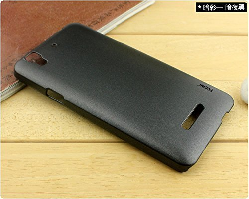 GoRogue Dark Smooth Slim Rubberized Hard PC Back Case Cover For Micromax Yu Yureka / Yureka Plus (Black)