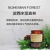 Aromatherapie Kerze Duftkerze High-End Set Geschenkbox Ätherisches Öl Soja Wachskerze Mit Glas Hochzeit Home Decor 波西米亚森林 210g