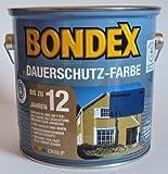 16,00 EUR/Liter Bondex Dauerschutzfarbe, Königsblau 486, 2,5 Liter