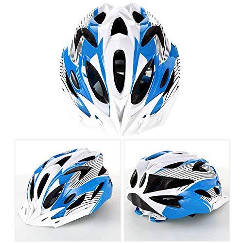 Hamkaw Herren Damen Strada Fahrradhelm Leicht verstellbar Fahrradhelm Fahrradhelm Atmungsaktiv Premium Airflow Qualität White Blue