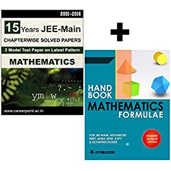 16 Years JEE Main Mathematics Chapter Wise Solved Papers (2016-2001) + Mathematics Formulae Book
