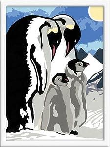 Ravensburger Spiel 28100 - Juego de Pintar guiado por números, diseño de pingüinos Importado de Alemania