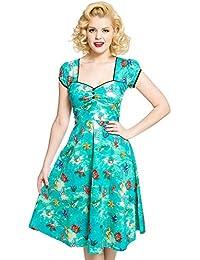 6798d1827bd1 Lindy Bop Bella' Green Seahorse Friends Print Swing Dress