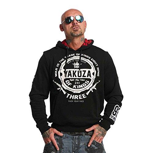 Yakuza Original Herren Trade Of Kings Hoodie Kapuzenpullover Schwarz