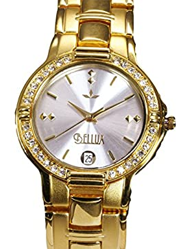 BELLUX -Dschini white-gold- Damenuhr / Damenarmbanduhr / Armbanduhr für die Dame