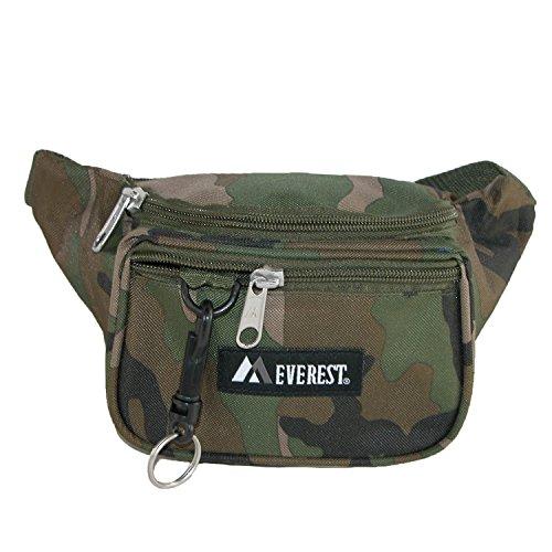 Everest Unisex Stoff Städtische Tarnung Sport Hüfttasche Tasche Woodland Camo