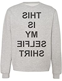 This Is My Selfie T-Shirt Mirror Reflection Letters Sudadera Unisex
