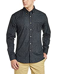 Allen Solly Mens Casual Shirt (AMSF317G02955_Black_44)