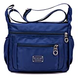 Tibes impermeable bolsa de hombro pequeña Bolso de crossbody bolsa de nylon Mujer B Azul profundo
