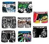 freegun. Boxer Homme Fgp68 Zoologic en Microfibre -Assortiments modèles Photos Selon arrivages- (L, Pack de 8)