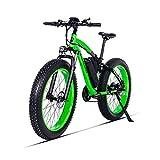 HUAEAST Bici Grassa Elettrica Bici Elettrica 500w 26 Pollice 48V 17AH Batteria 21 velocità Freno a Disco MTB Adulto(Verde)