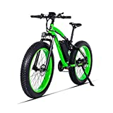 GUNAI Bicicletas Electricas Neumaticos Bicicleta 26 Pulgada 500w 48V 17AH Bateria Litio Frenos de Disco Bicicleta(Verde)