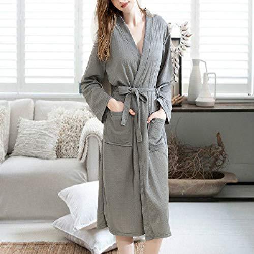 XUHONGTAO Bademantel dünne Yukata absorbierende schnell trocknende Pyjamas Männer und Frauen Paare Robe grau weiblich XL (120-160 kg) (Frauen 3x Sommer-roben Für)
