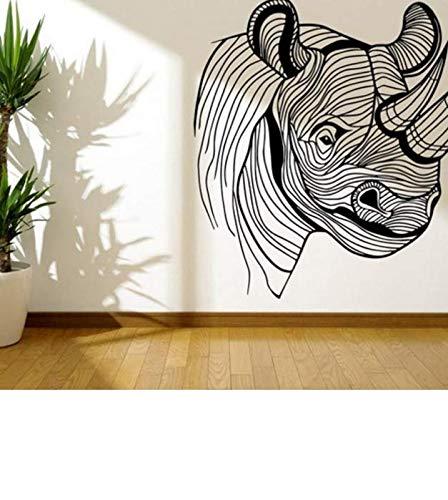 cmdyz Wandaufkleber Amasing Große Rhino Kinderzimmer Dekoration PVC Abnehmbare Wohnkultur Aufkleber Wandbild Poster 42 * 44 cm