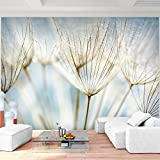 Fototapeten Pusteblumen Blau 352 x 250 cm Vlies Wand Tapete Wohnzimmer Schlafzimmer Büro Flur Dekoration Wandbilder XXL Moderne Wanddeko Flower 100% MADE IN GERMANY - Runa Tapeten 9002011b