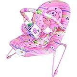 Inside Out Toys - Silla mecedora, vibradora y musical para bebé - Rosa claro