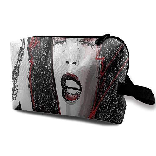 Bolsas de cosméticos colgantes de viaje Popular Singer Karaoke Multi-Functional Toiletry Makeup Organizer makeup purse